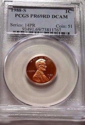 1988-S Lincoln Memorial Cent *** PCGS Proof 69 Red Deep Cameo ***