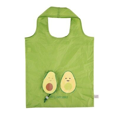 Sass & Belle AVOCUDDLE FOLDABLE SHOPPING BAG Avocado Vegan Vegetarian Cute Kawai