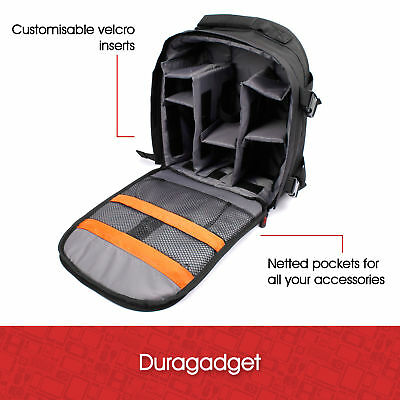 Rucksack With Adjustable Padded Interior & Rain Cover For Bebang 10x42 Binocular