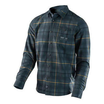 Troy Lee Designs Grind Flannel Shirt Gray Mens All Sizes