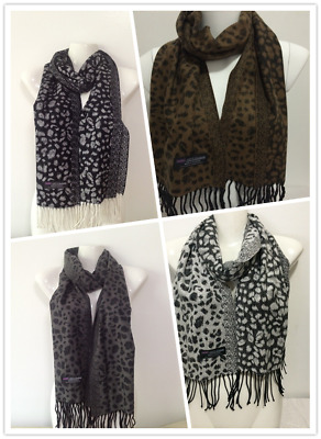 Wholesale 4Pcs 100% Cashmere Scarf Made In Scotland Leopard Design Style A