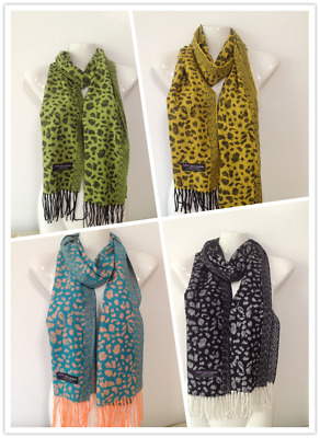 Wholesale 4Pcs 100% Cashmere Scarf Made In Scotland Leopard Design Style B