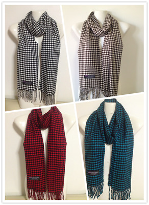 Wholesale 4Pcs 100% Cashmere Scarf Made In Scotland Houndstooth Design Style A