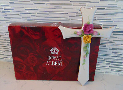 Royal Albert Old Country Roses Classic CROSS Holiday Christmas New in Box