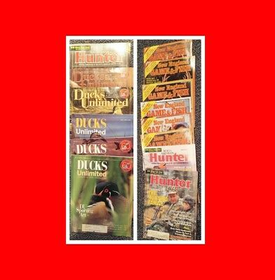 Hunting Magazines:ducks Unlimited, North American Hunter,new England Game & Fish