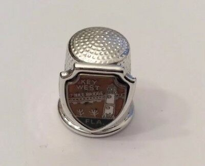 Vintage Key West Metal Thimble Florida