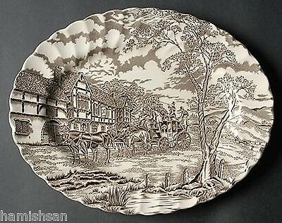 Royal Mail Brown Myott Staffordshire England Serving Platter Plate Dish