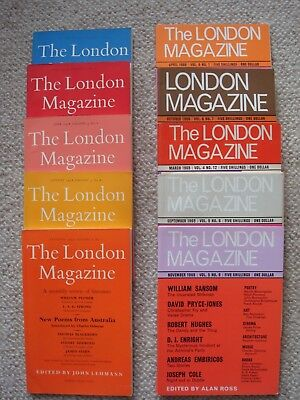 Ten Issues of The London Magazine - 1954 -1966.
