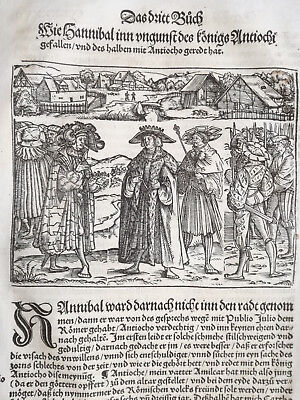 Livius History of Rome Post Incunable Woodcut Schoeffer (287) - 1530