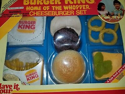 1987 Burger King home of the whopper Cheeseburger set