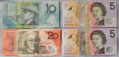 ***Lot of 4 Australia Australian Cir&UNC Bills Currency Paper Money***