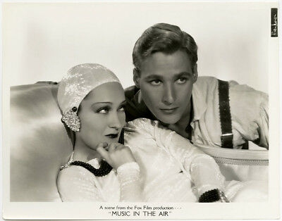 Gloria Swanson & Douglass Montgomery Vintage 1934 Music in the Air Photograph