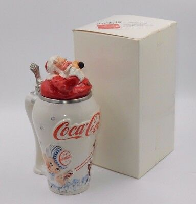 "LIMITED EDITION 368 of 8000 COLA-COLA COLLECTIBLE ""TRAVEL REFRESHED"" SANTA STEIN"