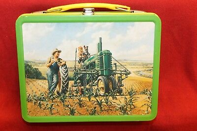 """JOHN DEERE Metal Tin LUNCH BOX """"RETRO"""" 2nd in a Series ~ Limited Edition ~"""