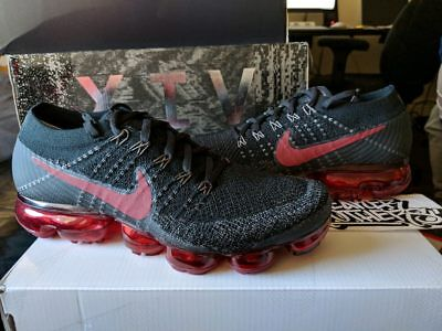 36c1aa82b3 Nike Air Vapormax Flyknit Black Dark Team Red Bred 3M 849558-013 Multi-Color
