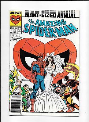 The Amazing Spider-Man Annual #21 ==> Nm/nm+ Wedding Issue 1987 Marvel
