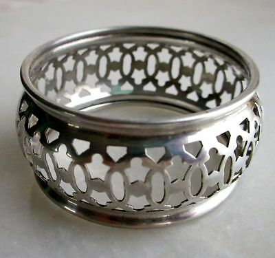 American Art Nouveau Sterling Silver Reticulated Napkin Ring, Hallmarked