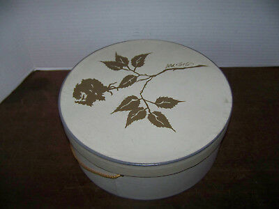 vintage Hat Box Lord & Taylor Round Rope Handle