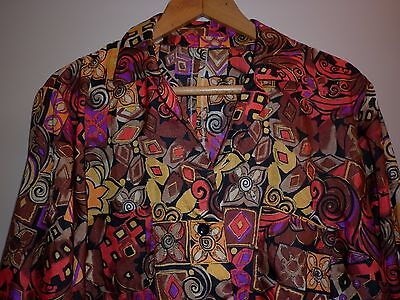 Vintage Funky Print Summer Jacket  Size Large Excellent Condition
