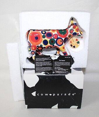 "Whimsical Cow Parade 2005 ""GOT SPOTS?""  #7343 w/ Tag IOB Retired"