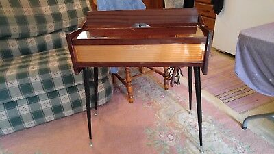 Vintage SONOLA Chord Organ Italy Wood Veneer Air Organ with Original Legs