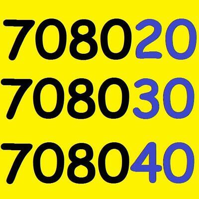 [0770 7x7 1011] o2 SIM + VIP Gold Mobile Phone Number Pay As You Go 02 Prepay UK