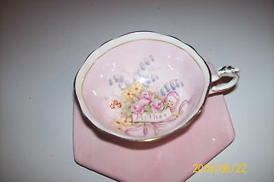 VTG Rosina China Co Ltd Queen's Pink Roses Mother Cup Fine Bone China England !!