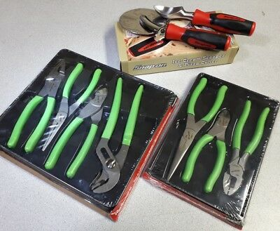 New Snap On Tools Green pliers cutters needlenose linemans FREE Pizza &Ice cream