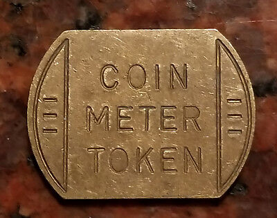 Vintage Coin Meter Token - Irregular Shape - Brass - #1376