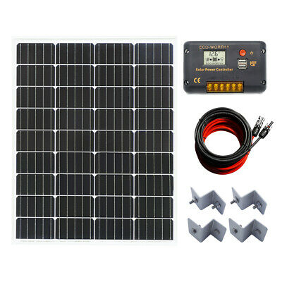 160W 12V Mono Solar Panel Kit Charge Home Power Caravan Camping Battery Charge