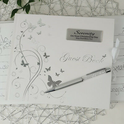 Personalised Christening Guest Book - Butterfly  | Christening | Baptism