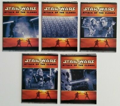 Star Wars - Topps AOTC [USA] - COMPLETE Panoramic Fold-Out Chase Set (5) Cards