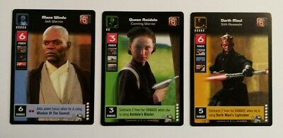 Star Wars - 2000 Decipher - Young Jedi CCG - PROMO Cards P2, P3 & P4