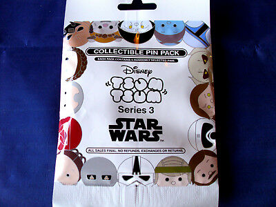Disney* TSUM TSUM * Star Wars Series #3 * NEW 5-pin Collectible Mystery Pin Pack
