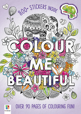 Adult Colouring Book Colour Me Beautiful 90+ Pages A4 Size Bonus 800+ Stickers