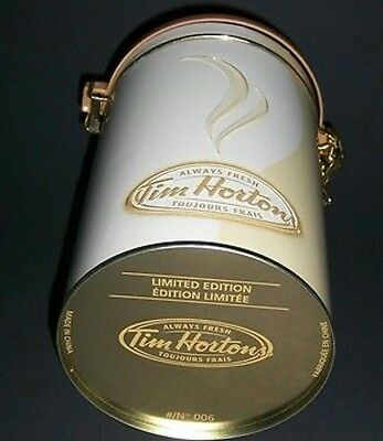 TIM HORTONS Collectible Coffee Tea Canister Tin #006 LIMITED EDITION 2006 NEW B2