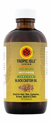 Tropic Isle Living Jamaican Black Castor Oil- 4 oz Plastic PET Bottle