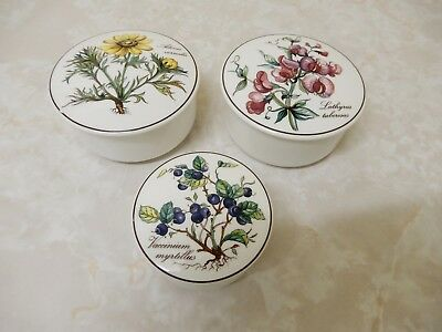 3 Villeroy & Boch Porcelain/china Floral Trinket Boxes, Candy Dishes Brand New