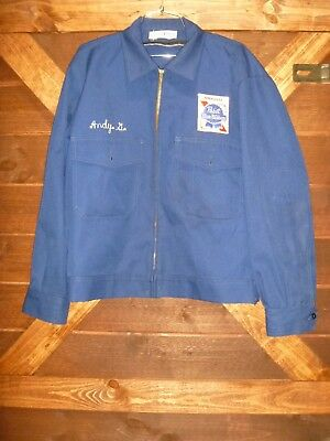 Vtg 1950's Pabst Blue Ribbon Delivery Jacket Caleb V Smith 44R Made In 🇺🇸 Beer