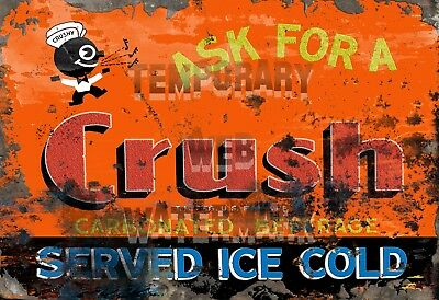 Stunning Restomod of Orange Crush Sign Framed Fine-Art Print 13x19 Ready to Hang
