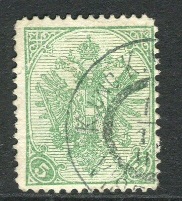 BOSNIA HERZEGOVINA;  1900 early Arms issue used 5h. value fair Postmark
