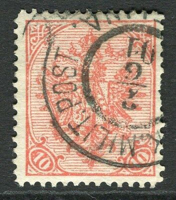 BOSNIA HERZEGOVINA;  1900 early Arms issue used 10h. value fair Postmark