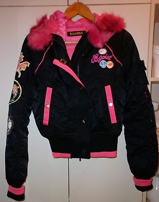 Vintage Egoist Funky Cropped Battle Jacket Small Excellent Condition