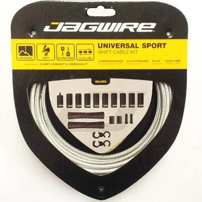 Jagwire Universal Sport Mountain Bike MTB Road Bicycle Gear Cable Kit Silver