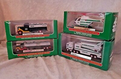 Lot Of 4  Hess Miniatures 2000, 2004, 2005, 2009 advertising