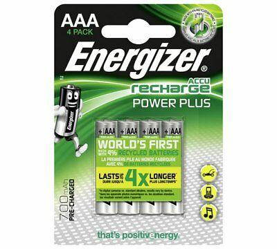 NEW Energizer 700 mAh Rechargeable AAA High Power Batteries 4 Pack_UK