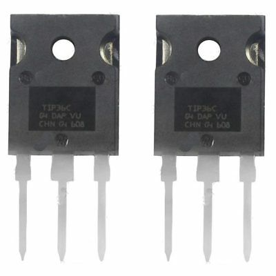 2 x TIP36C PNP Power Transistor TO-218 100V 25A