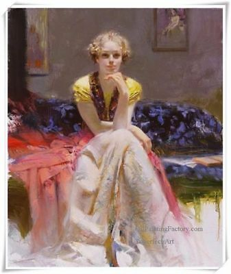 "Pino Daeni,Hand-painted Portrait oil Painting On Canvas 24x32""#31/Unframed"