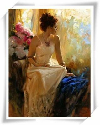 "Pino Daeni,Hand-painted Portrait oil Painting On Canvas 24x32""#32/Unframed"
