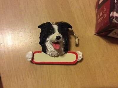 E&S IMPORTS Christmas Pet Lover BORDER COLLIE Dog Ornament Gift Personalize It!